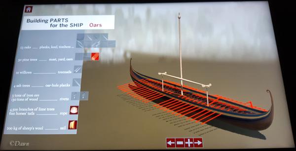 Roskilde 6 ship interactive display