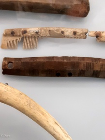 Bone tools on display at the Royal Alberta Museum (RAM) from a Danish touring exhibit