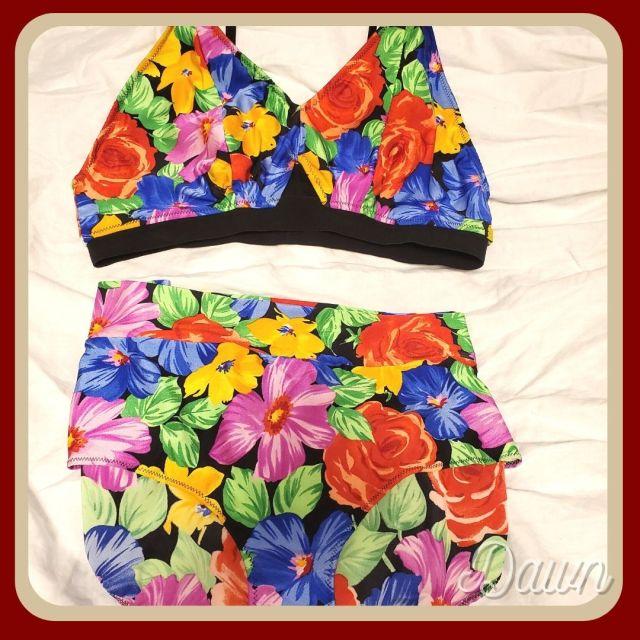 Bright floral bikini set